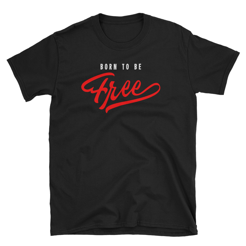 Men's T Shirt,Black / 3XL,Born To Be Free T-Shirt | Bikerisma ™