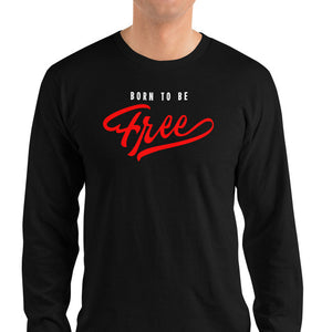 Men's Long Sleeve Shirt,,Born To Be Free Long Sleeve Shirt | thebikerstshirt
