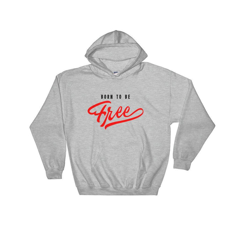 Women's Hoodie,Grey / 3XL,Born To Be Free Women Classic Hoodie | thebikerstshirt