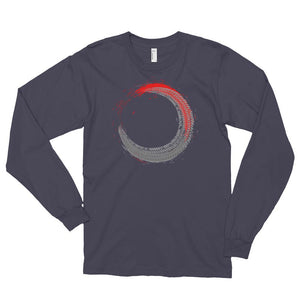 Men's Long Sleeve Shirt,Asphalt / 2XL,Tire Tracks Long Sleeve Shirt | thebikerstshirt