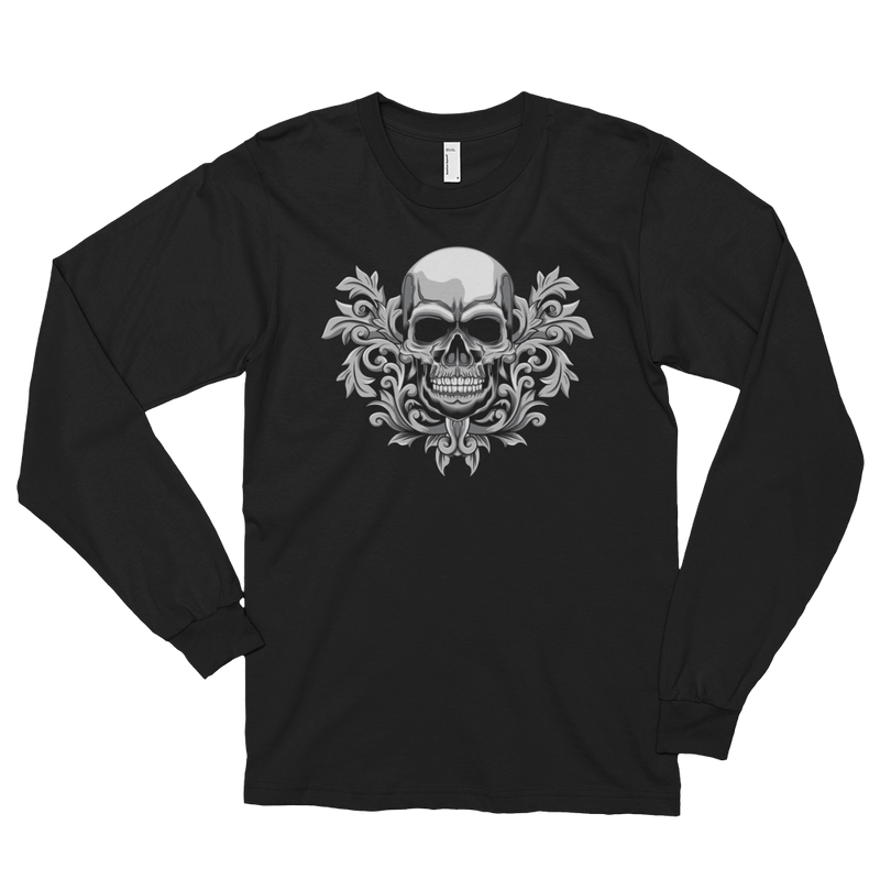 Men's Long Sleeve Shirt,Black / 2XL,Corinthian Skull Long Sleeve Shirt | thebikerstshirt