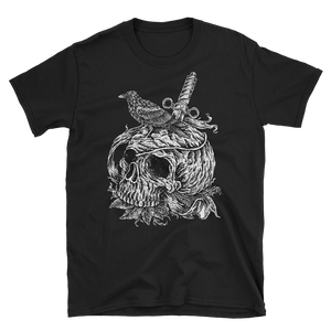 Men's T Shirt,Black / 3XL,Crow on a Skull Men T Shirt | Bikerisma ™