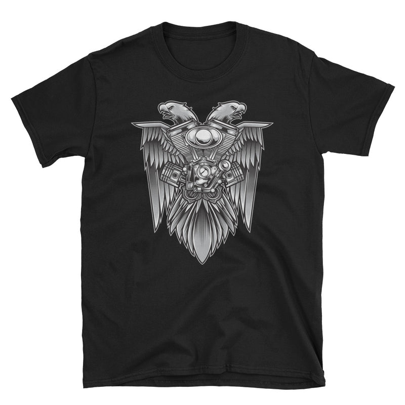 Men's T Shirt,Black / 3XL,Eagle & Motorsport T-Shirt | Bikerisma ™