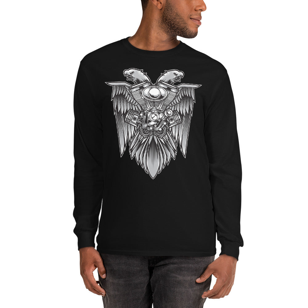 Men's Long Sleeve Shirt,,Eagle & Motorsport Long Sleeve Shirt | thebikerstshirt