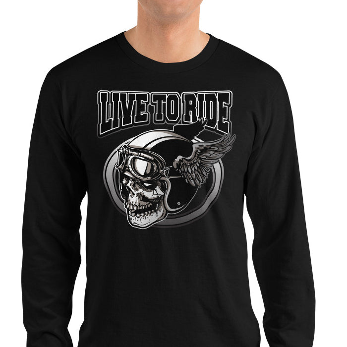 Men's Long Sleeve Shirt,,Live To Ride Long Sleeve Shirt | thebikerstshirt