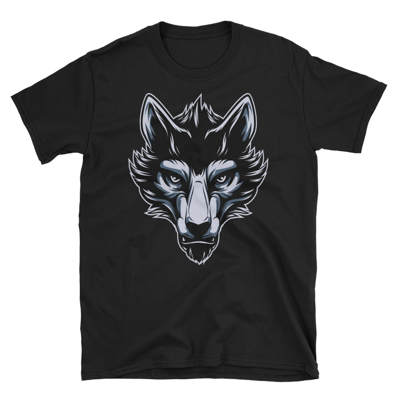Men's T Shirt,Black / 3XL,Lone Wolf I T-Shirt | thebikerstshirt