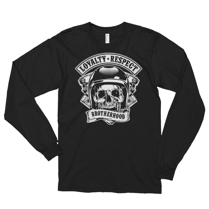 Men's Long Sleeve Shirt,Black / 2XL,Loyalty Respect Brotherhood Long Sleeve Shirt | thebikerstshirt