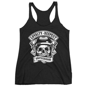 Women's Racerback Tank,Black / 2XL,Loyalty Respect Brotherhood Women's Racerback Tank | The Biker's T-Shirt