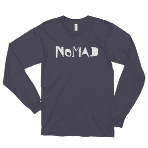 Men's Long Sleeve Shirt,Asphalt / 2XL,Nomad Long Sleeve Shirt | thebikerstshirt