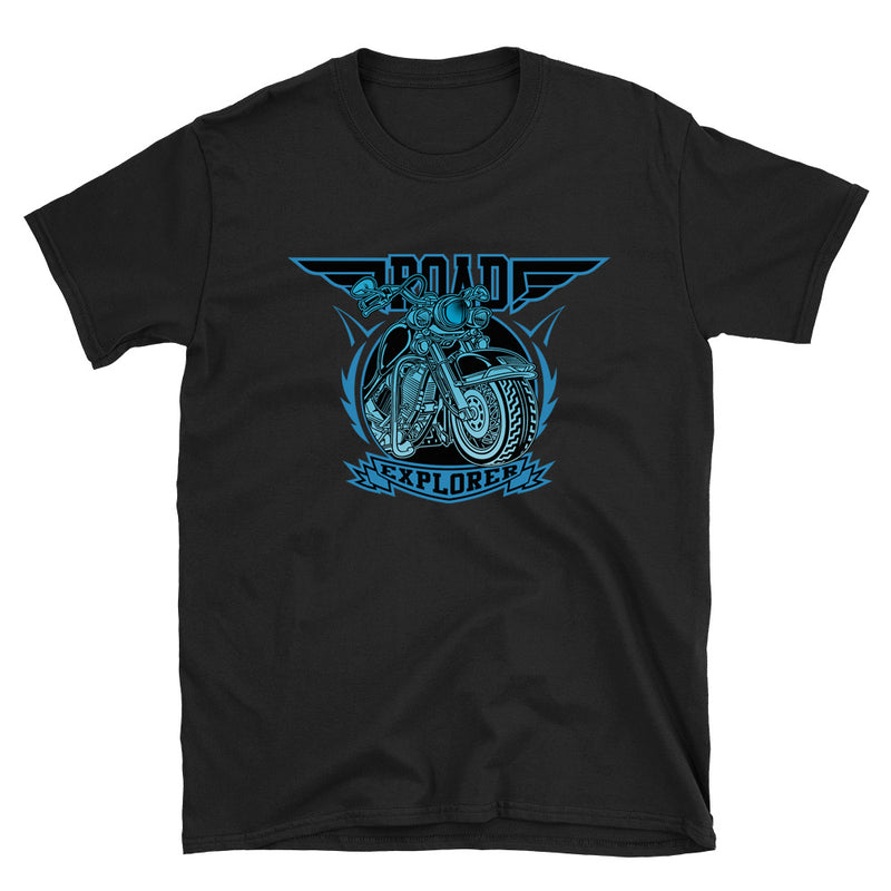 Men's T Shirt,Black / 3XL,Road Explorer T-Shirt | thebikerstshirt