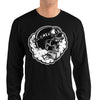 Smoking Skull Long Sleeve Shirt