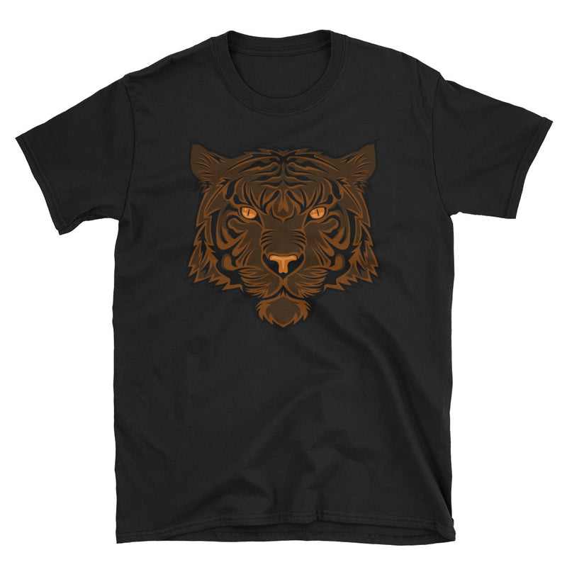 Men's T Shirt,Black / 3XL,Tiger T-Shirt | thebikerstshirt