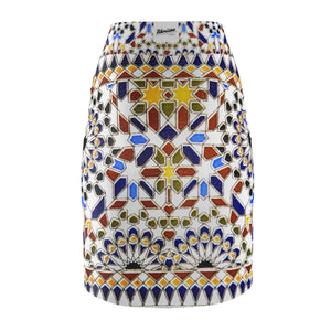 Women's Pencil Skirts,,Morocco Arabesque Women's Pencil Skirt | Bikerisma ™