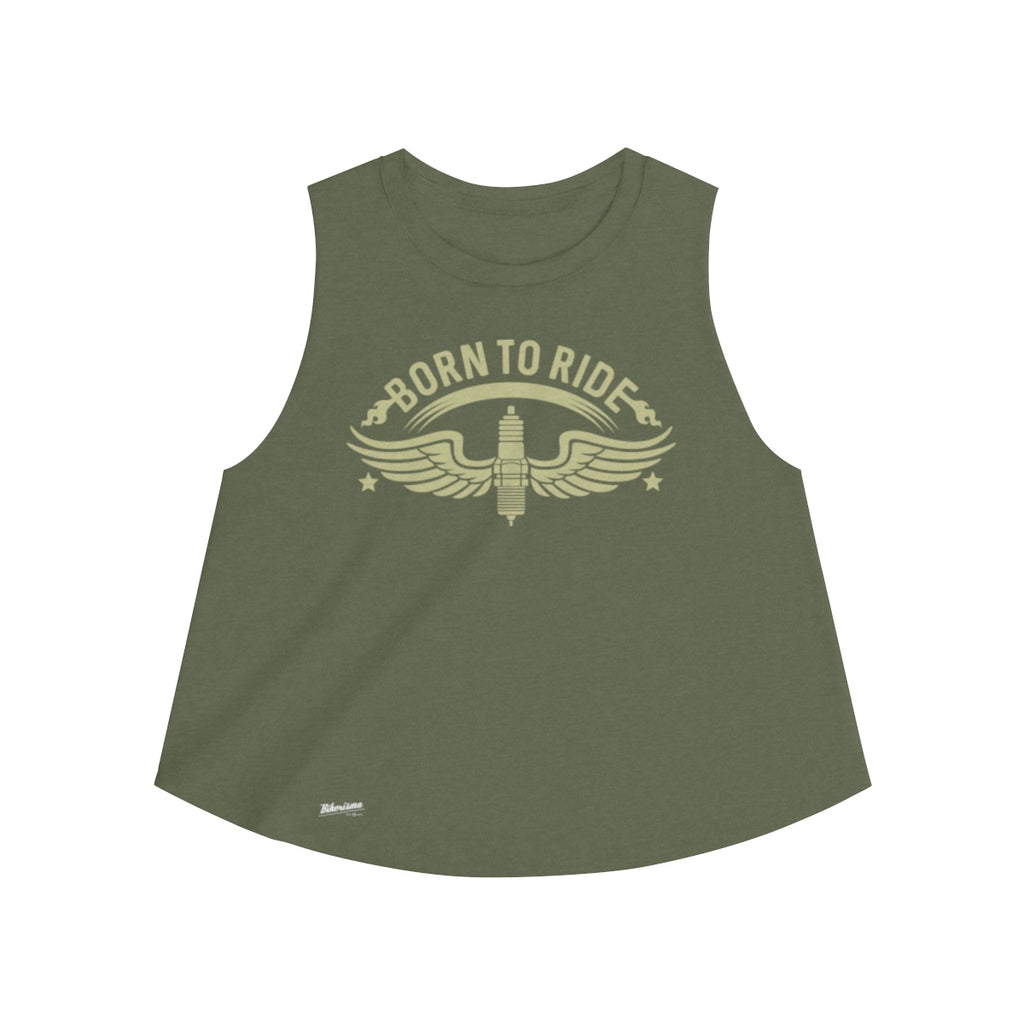 Tank Top,2XL / Heather Olive,Born to Ride Women Top | Bikerisma ™