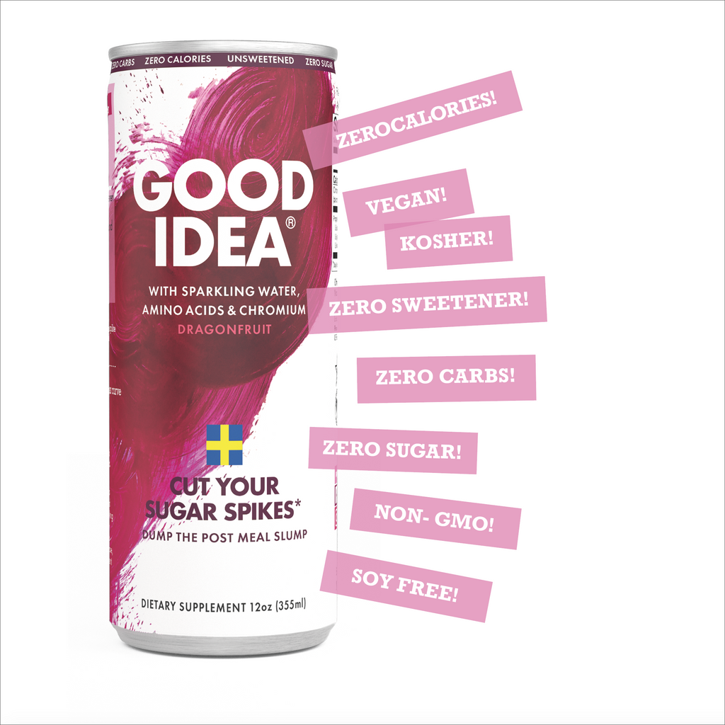 Cut your sugar spikes* - Good Idea® 12 Count Sparkling Dragon Fruit. Now with an Introductory Offer!