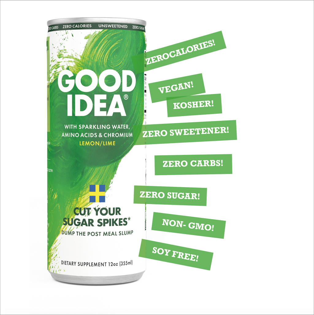SOLD OUT! Cut your sugar spikes* - Good Idea® 12 Count Sparkling Lemon Lime.                             Now with an Introductory Offer!