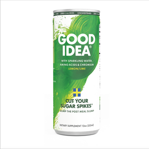 Cut your sugar spikes* - Good Idea® 12 Count Sparkling Lemon Lime.                             Now with an Introductory Offer!