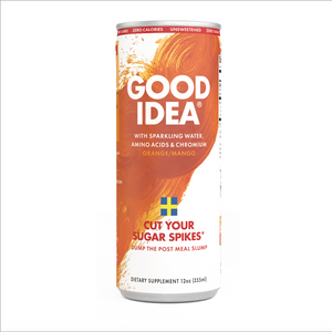 Cut your sugar spikes* - Good Idea® 12 Count Sparkling Orange Mango. Now with an Introductory Offer!