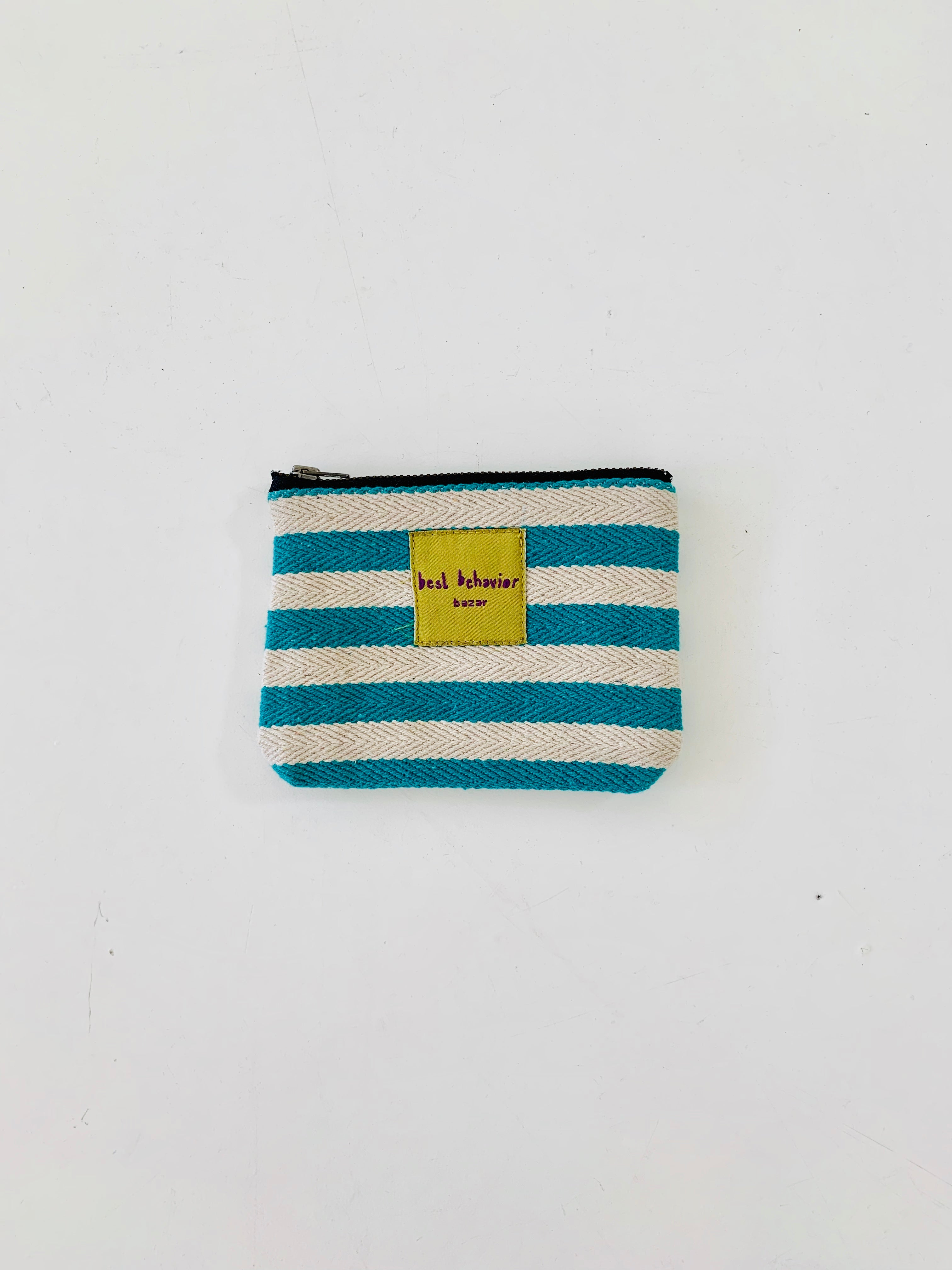 Wallet - turquoise stripes