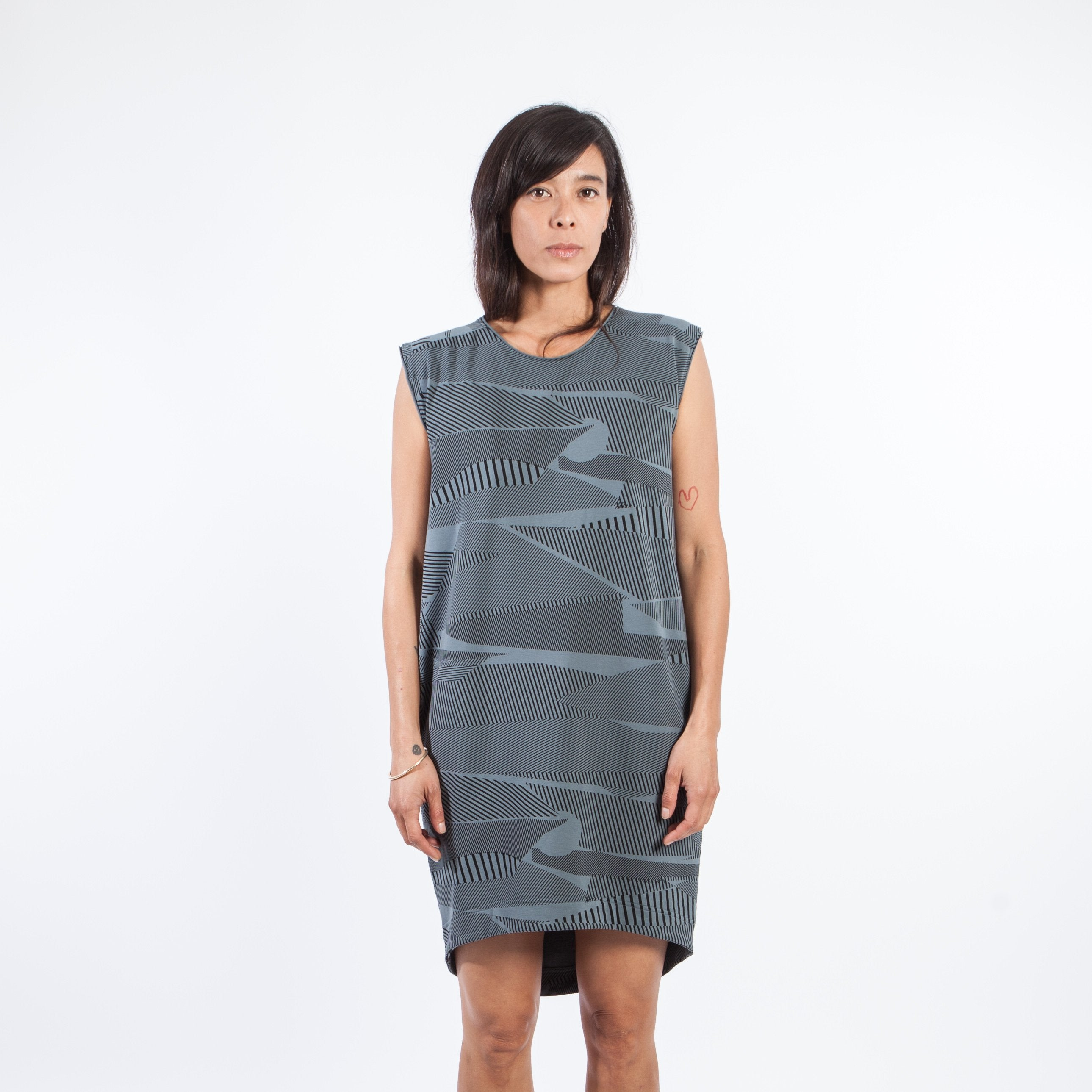 SALE / Nelly Dress patch print