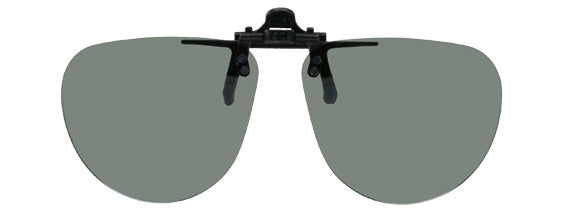 Opsales DH1 Polarized Clip On Flip Up Sunglasses Clips Small Aviator