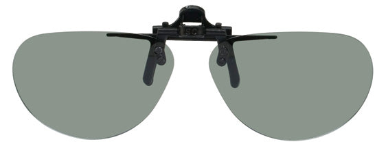 Opsales DV1 Polarized Clip On Flip Up Sunglasses Clips Small Oval