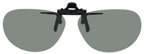 Opsales DV2 Polarized Clip On Flip Up Sunglasses Clips Oval