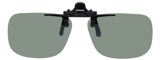 Opsales DX1 Polarized Clip On Flip Up Sunglasses Clips Small Rectangle
