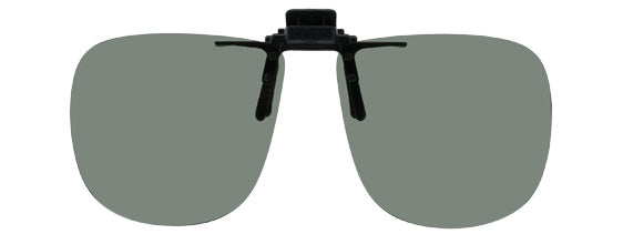 Opsales G2 Polarized Clip On Flip Up Sunglasses Clips Large Square