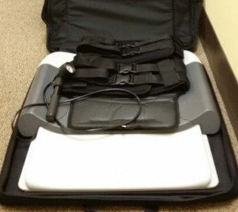 Saunders Lumbar Deluxe Traction Unit HomeTrac Device With Carrying Case