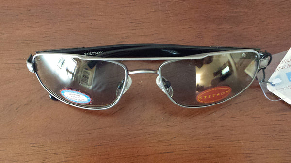 Brand New Authentic Stetson St Medalist Antique Pewter Photochromic Sunglasses With Case