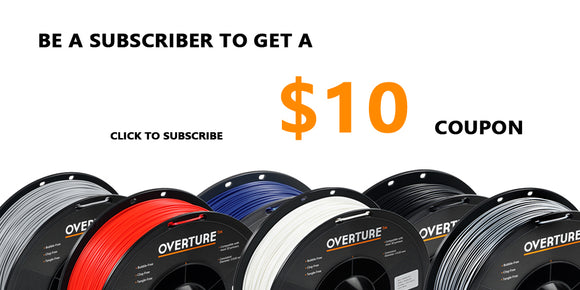 3D PRINTER FILAMENT WITH COUPON AND DISCOUNT