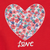 H&M Girls Heart Printed Red Top