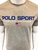 Ralph Lauren Custom Slim Fit Polo Sport Grey Tshirt