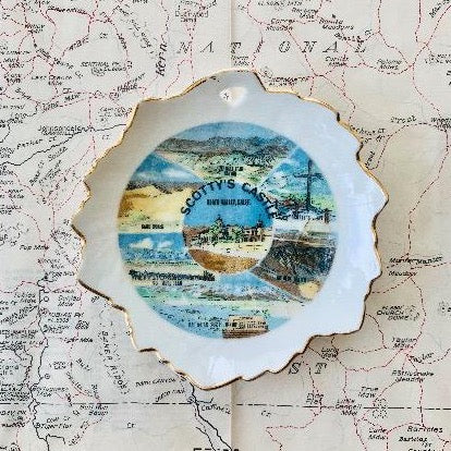 SMALL VINTAGE PLATE | SCOTTY'S CASTLE