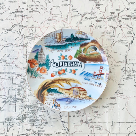 VINTAGE PLATE | Catalina-Long Beach-Hollywood Bowl