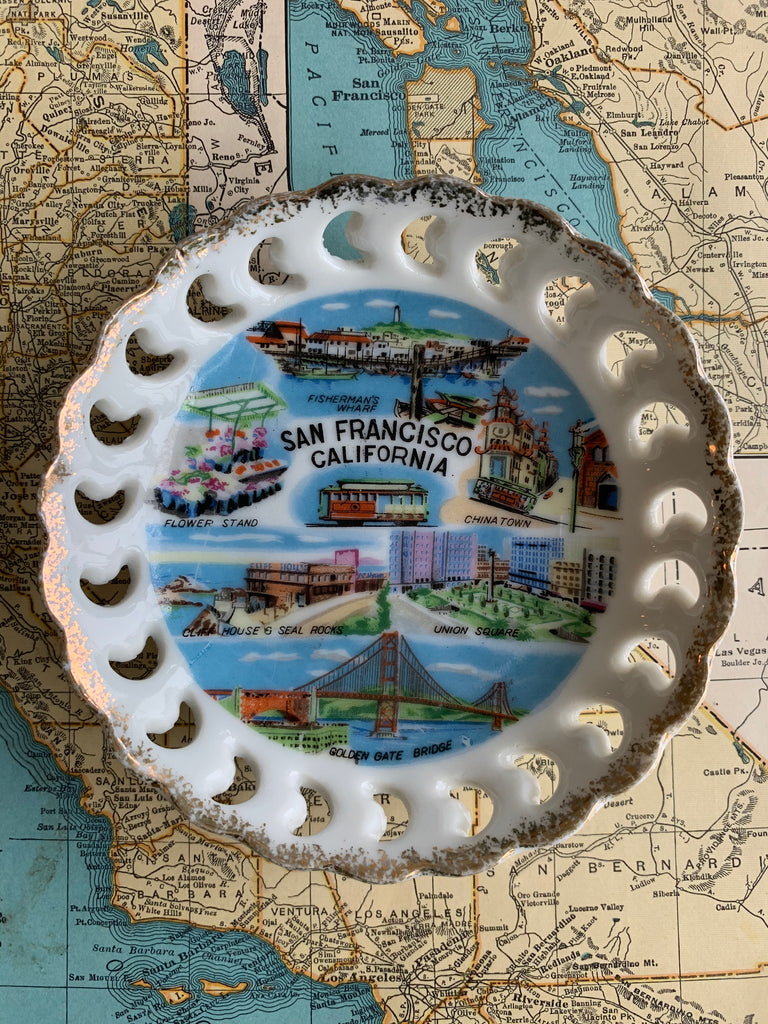 SMALL VINTAGE PLATE | San Francisco