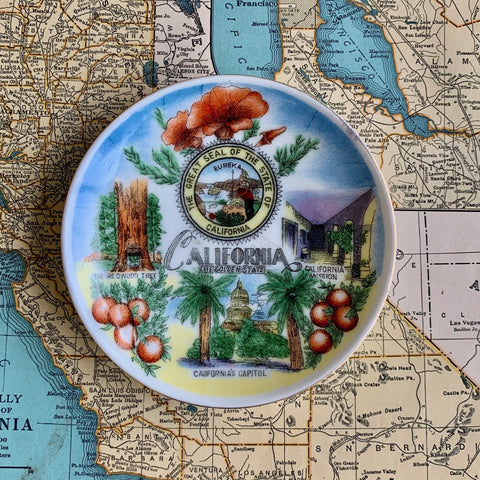SMALL VINTAGE PLATE | CALIFORNIA, THE GOLDEN STATE