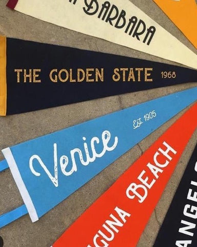 THE GOLDEN STATE | ROAD TRIP PENNANTS