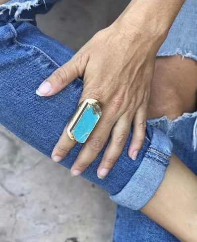Native Gem | Turquoise Dream Cigar Ring