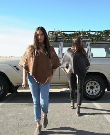 Shearling Ponchos by The Golden State