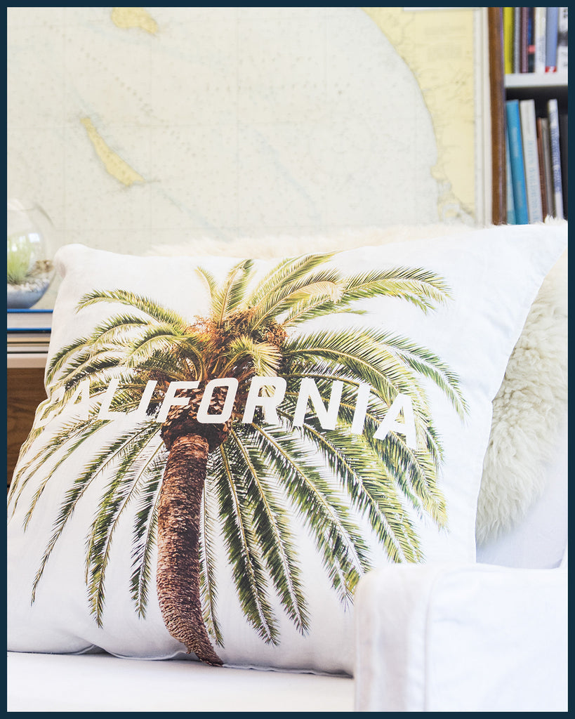 California Palm Tree Pillow