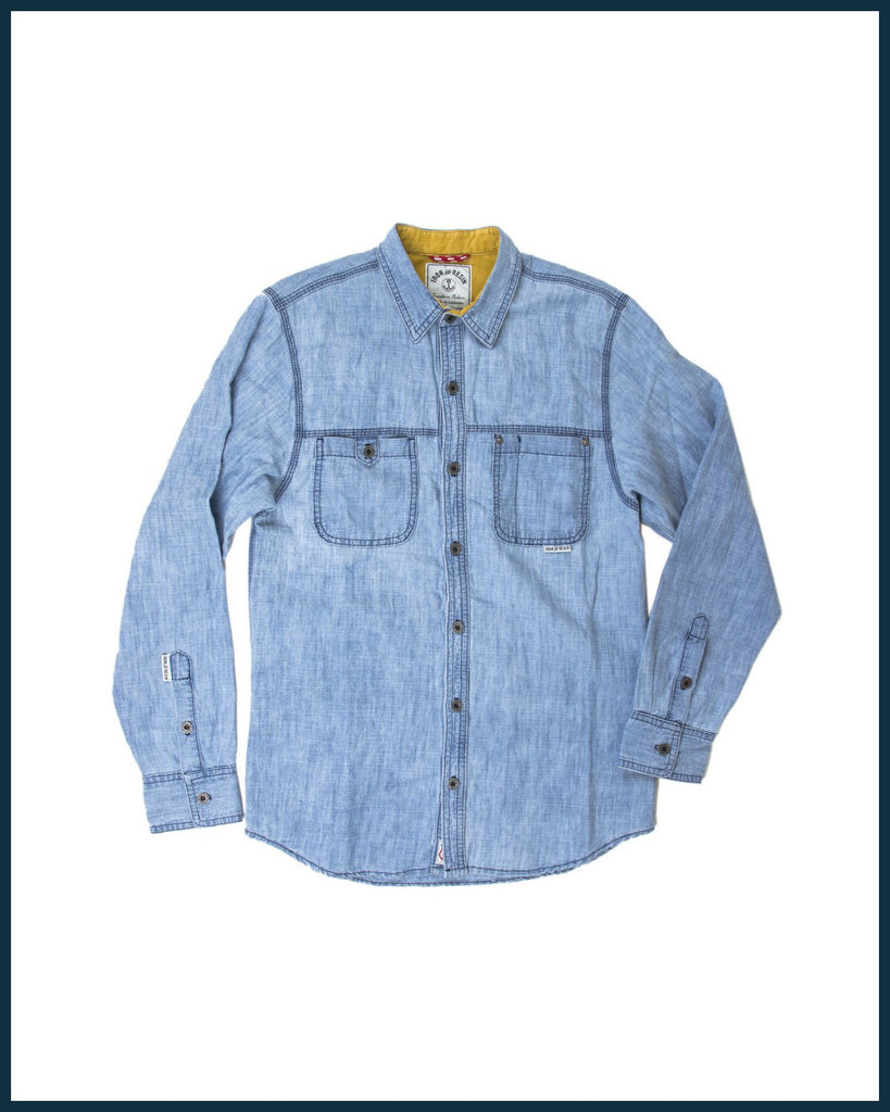 IRON AND RESIN / Trucker Shirt INDIGO
