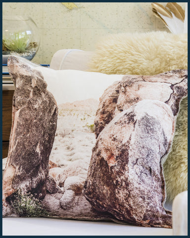 Joshua Tree Rocks Pillow