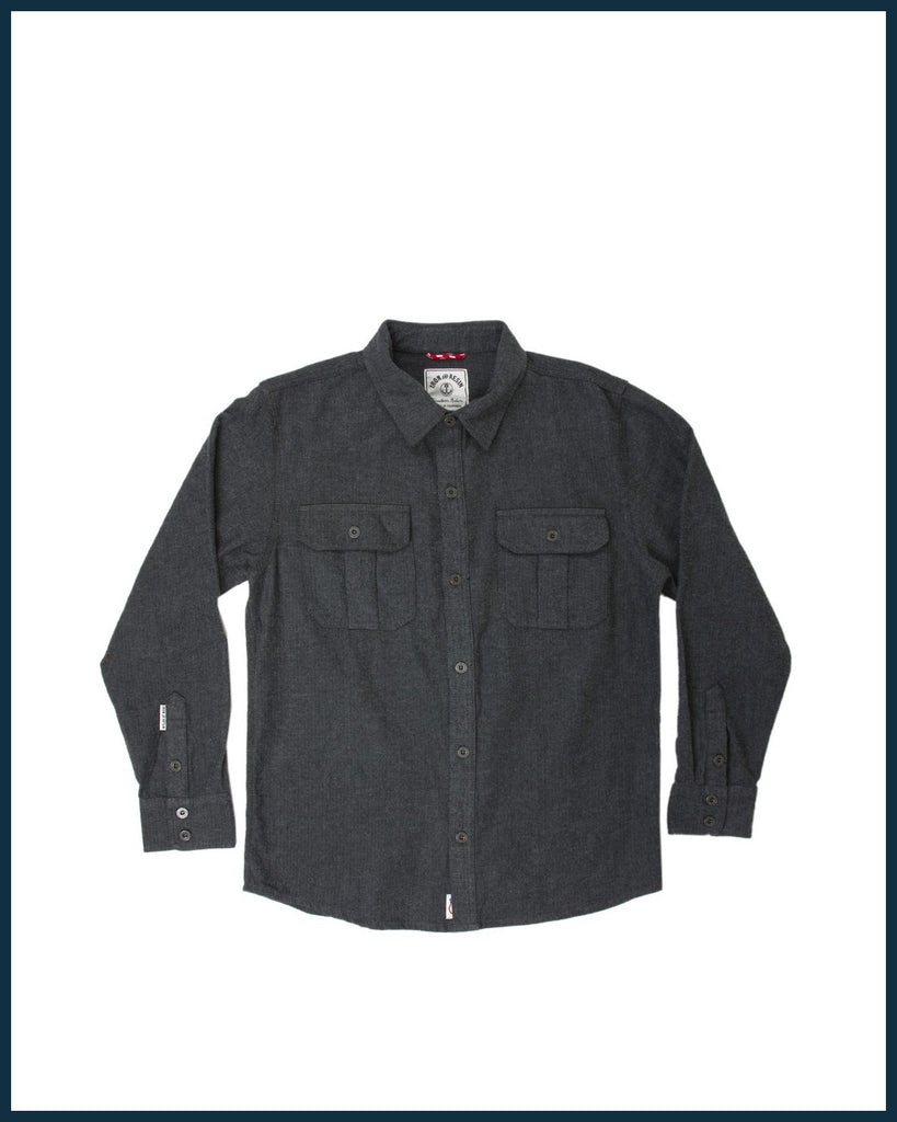 Sespe button down in Charcoal