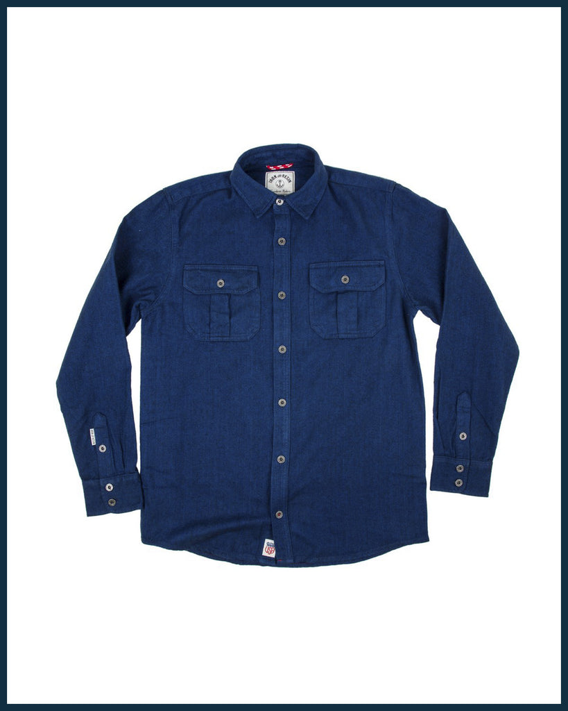 Sespe button down in BLUE