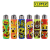 Clipper Lighter Pop Cover Emoji 2 w/ Removable / Replaceable Flint / Poker 24/pack