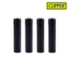 Clipper Lighter Jet Flame Metal Black 12/pack Tray