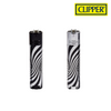 Clipper Lighter Metal Psychedelic Silver 12/pack