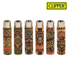 Clipper Lighter Pop Cork Cover Tattoo Design w/ Removable / Replaceable Flint / Poker 30/pack